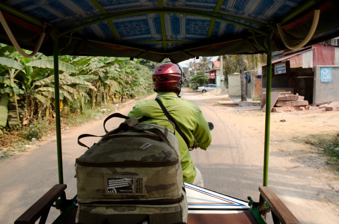 On my way to Siem Reap by tuk tuk