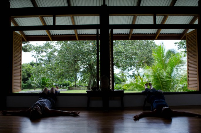 yoga studio at Blue Osa