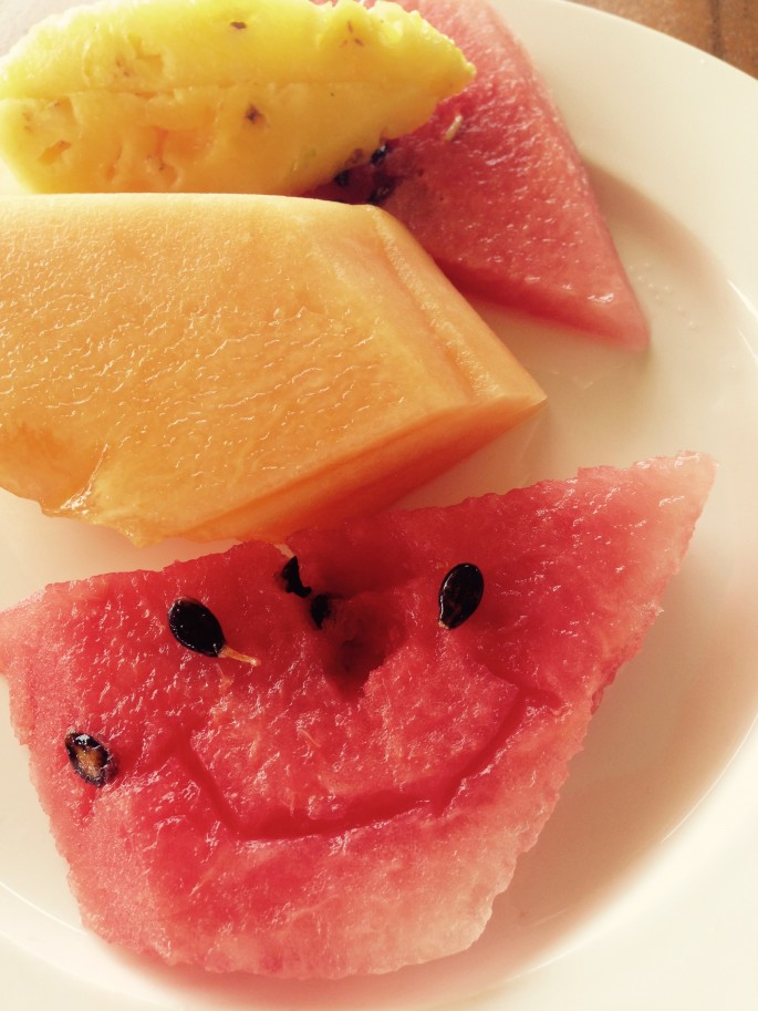 Fresh fruit to make you smile at Rio Perdido