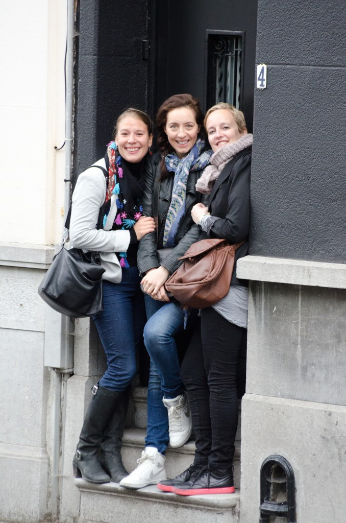 Hanging out in Antwerp with my best Belgian friends, whom  met at a hotel in South Africa