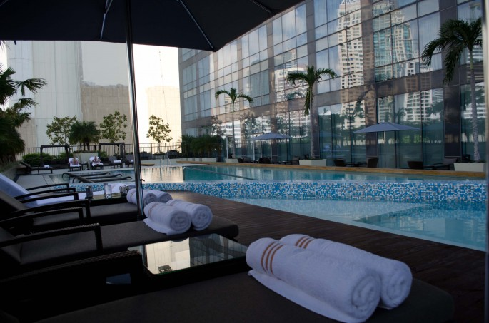 White-towels and poolside luxury at the Fairmont Makati, Manila