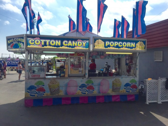 popcorn at Cloverdale Rodeo