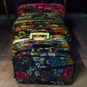 Retro suitcases at Decades Vintage 24 hours in Salt lake City