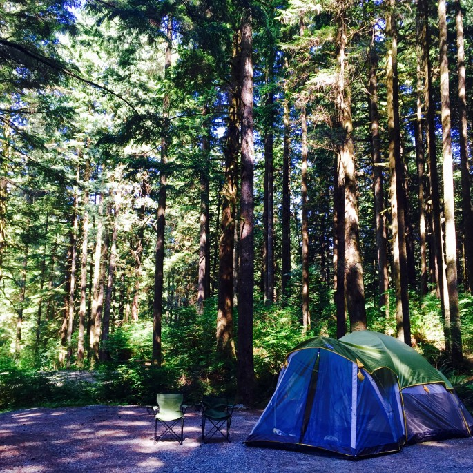 holiday to Canada - camping