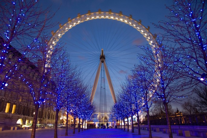 London's South Bank at Christmas