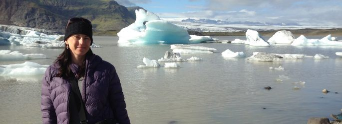 Andrea in Iceland