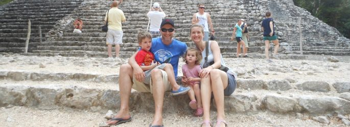 Real life Brexiter Katja Gaskell and her family in Mexico