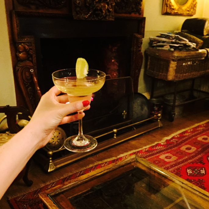 A Christmas cocktail at Orestone manor home of the first Christmas card