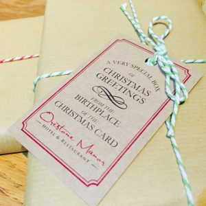 The first Christmas card at Orestone manor