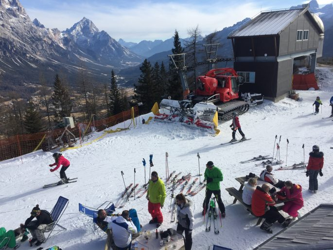 Skiing In Cortina