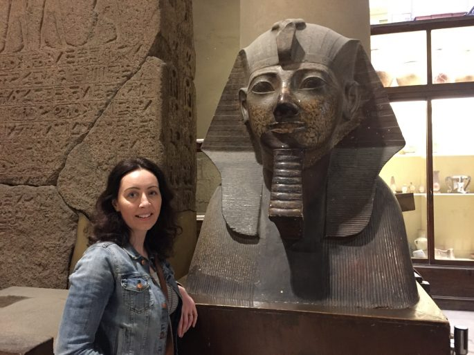 Tourism to Egyptian Museum Cairo March 2017
