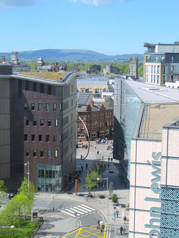 View from Radisson Blu Cardiff