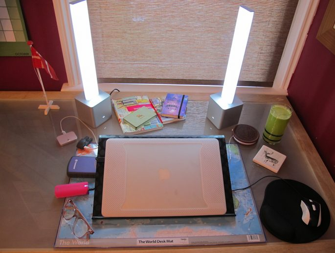 My desk with Needlite