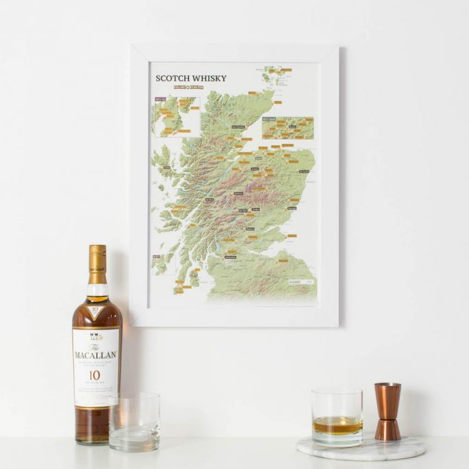 Scottish Whisky Scratch Print