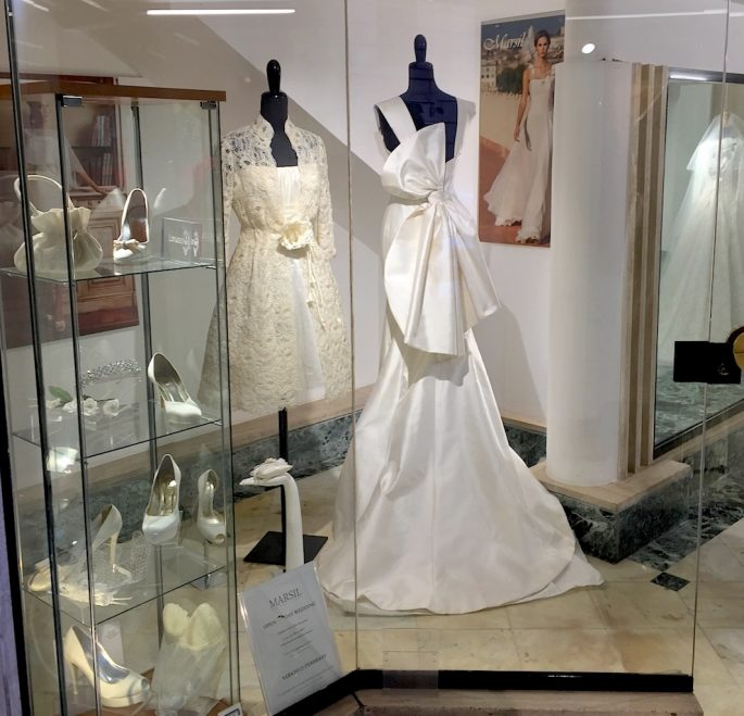 wedding dress in Rome