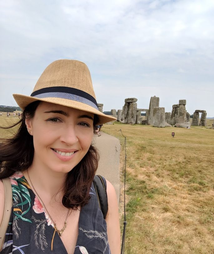 Jaillan Yehia at Stonehenge