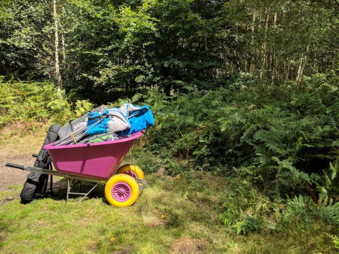 wheelbarrow at Beech Estates