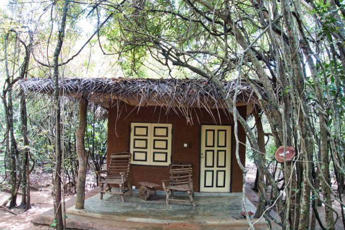Village hut at Mahagedara Retreat