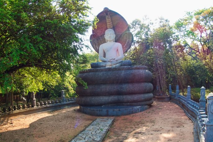 Buddha and snake at Pidurangala