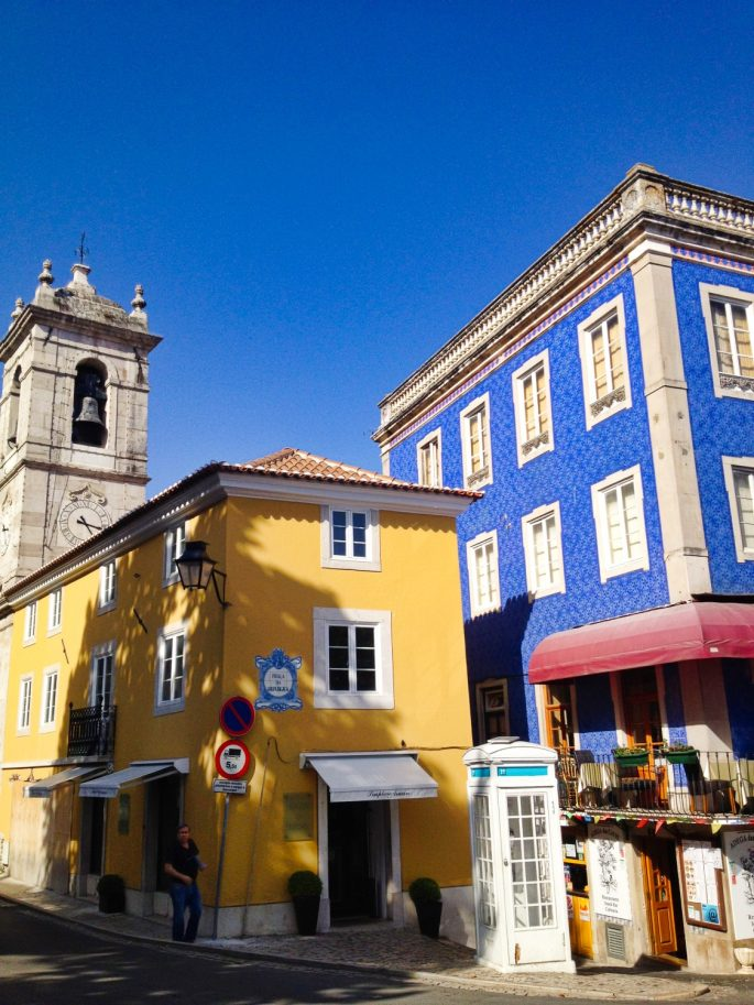 Sintra buildings in the sunshine