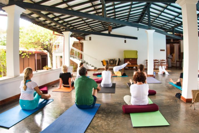yoga class at barberyn Sands hotel