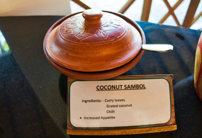 Coconut Sambol at Barberyn Sands
