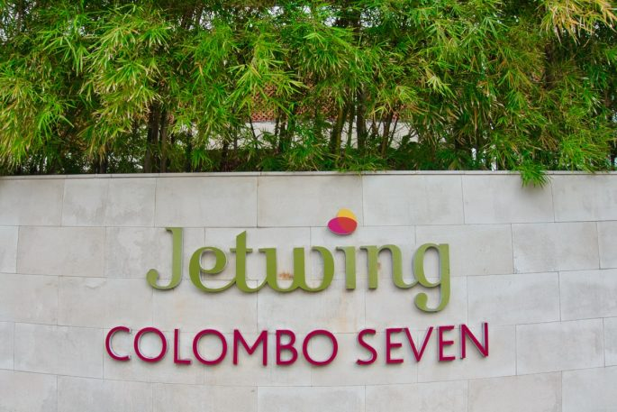 Jetwing Colombo Seven sign