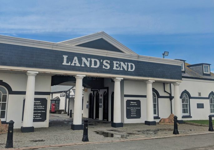 Land's End Cornwall in winter