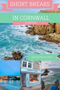 Pinterest Poster for Short Breaks In Cornwall in Winter