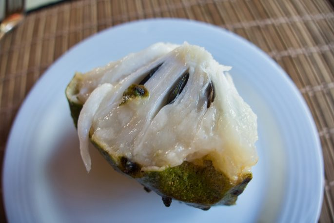 soursop fruit cut open