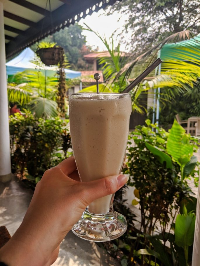 soursop fruit shake in a glass at Good Market
