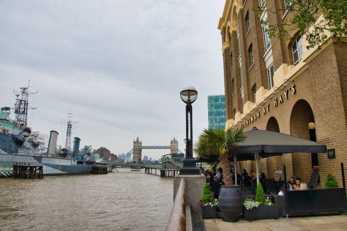 Things to do near the shard - Hays Thames view