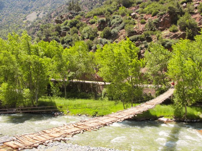 bridge over the river in Atlas Mountains