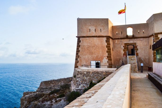 Aguilas Castle close up of ramparts
