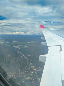 Sri Lankan Airways Wing Tip view on landing in Colombo