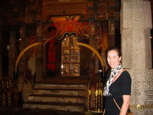 Me standing at the Temple of the tooth Kandy Sri Lanka