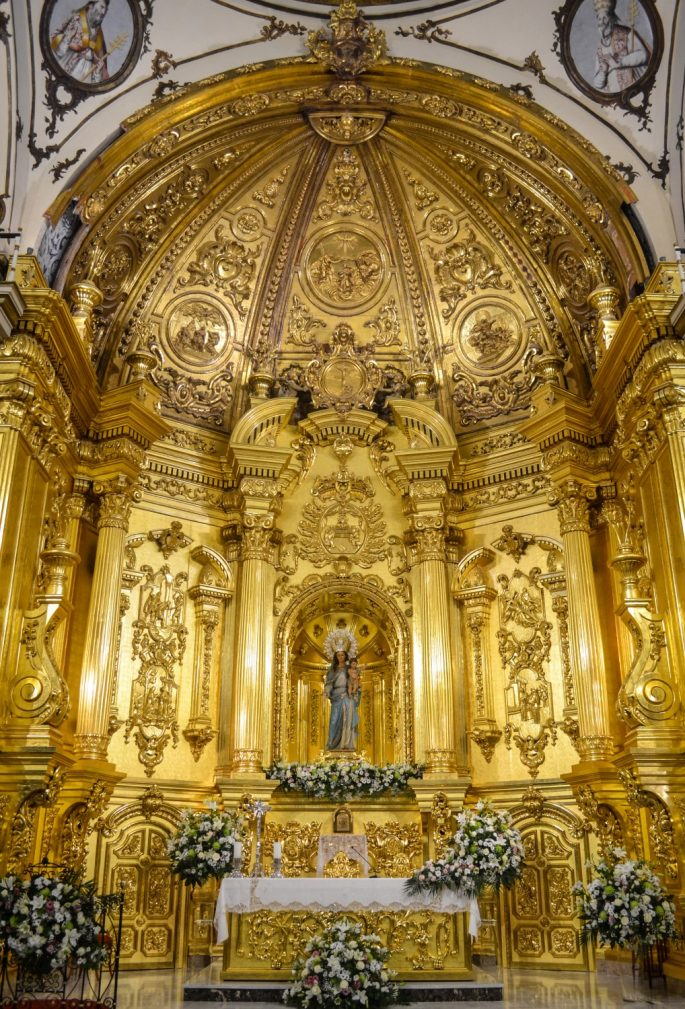 Golden Altar at The White Museum in Lorca