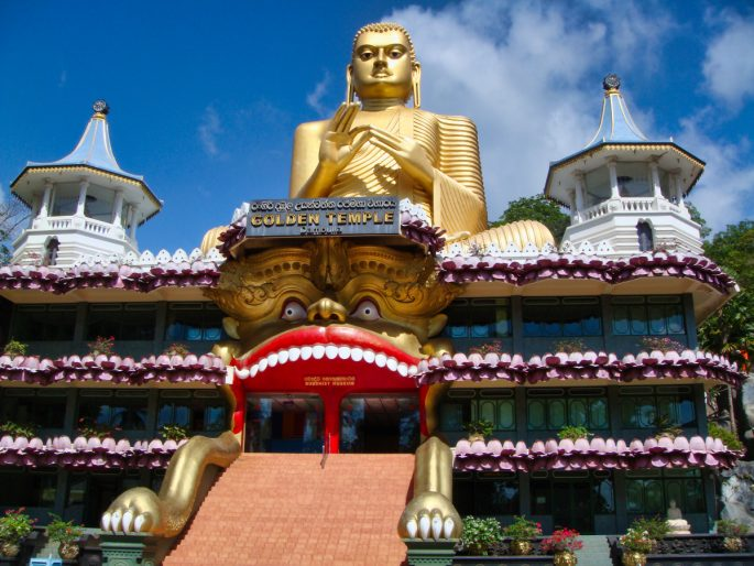Golden Buddha Statue in Sri Lanka
