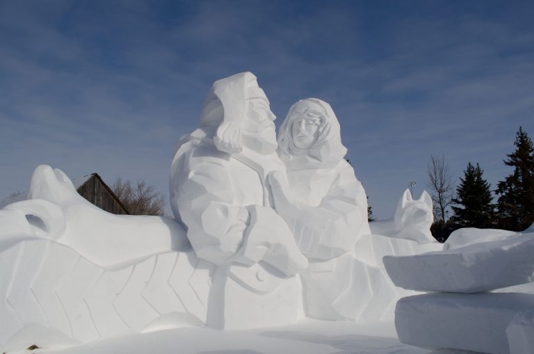 Another elaborate snow sculpture