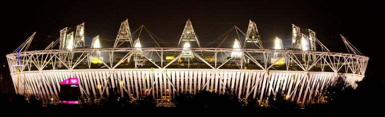 Olympic Stadium by Night London 2012