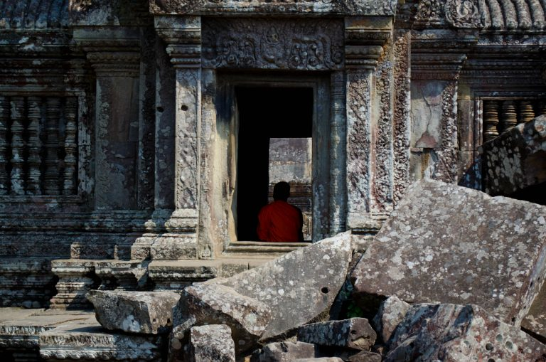 Monk at Preah Vihear