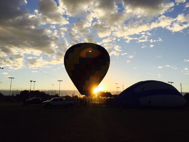 At the annual Colorado River Crossing Balloon Festival in Yuma, Arizona